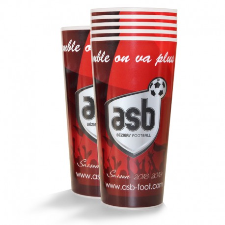 Lot de 6 verres ASB 50 cl Rouge